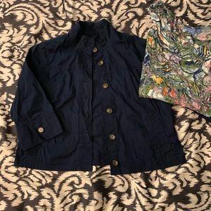 Jackets & Blazers - Eddie Bauer cropped cotton jacket